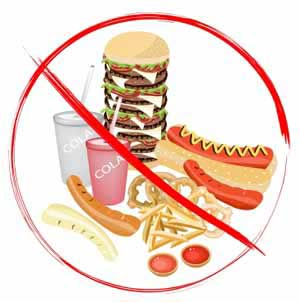 avoid junk food during natural treatment for tinnitus