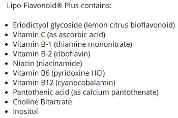 lipoflavonoid plus ingredients
